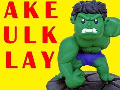 How To Make Giant Superhero Hulk Play Doh Disney Marvel Toy (Air Dry Clay) - Toys For Your Children