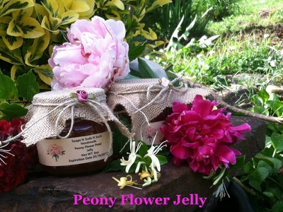 How to make jelly, Peony Flower, Rose Petal - video recipe by Soaps N Suds N Such