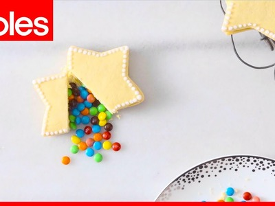 How to make piñata star-shaped cookies filled with chocolate