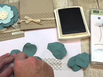 How to make Shabby Chic Flower Card