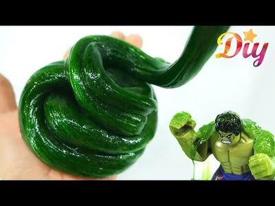 How to make Soft Green Slime with HULK - KidsMon