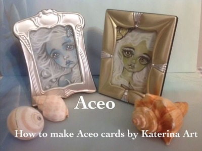 How to make your own ACEO ATC CARDS Tutorial