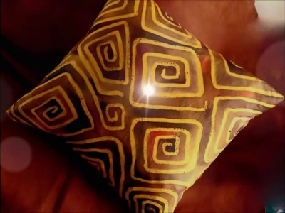 How to Paint a Simple Silk Cushion using Batik Methods