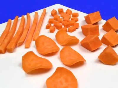 How to Quickly Cut Sweet Potatoes (HD)
