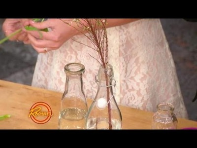 Lauren Conrad Shows You How to Make a Glass Bottle Centerpiece