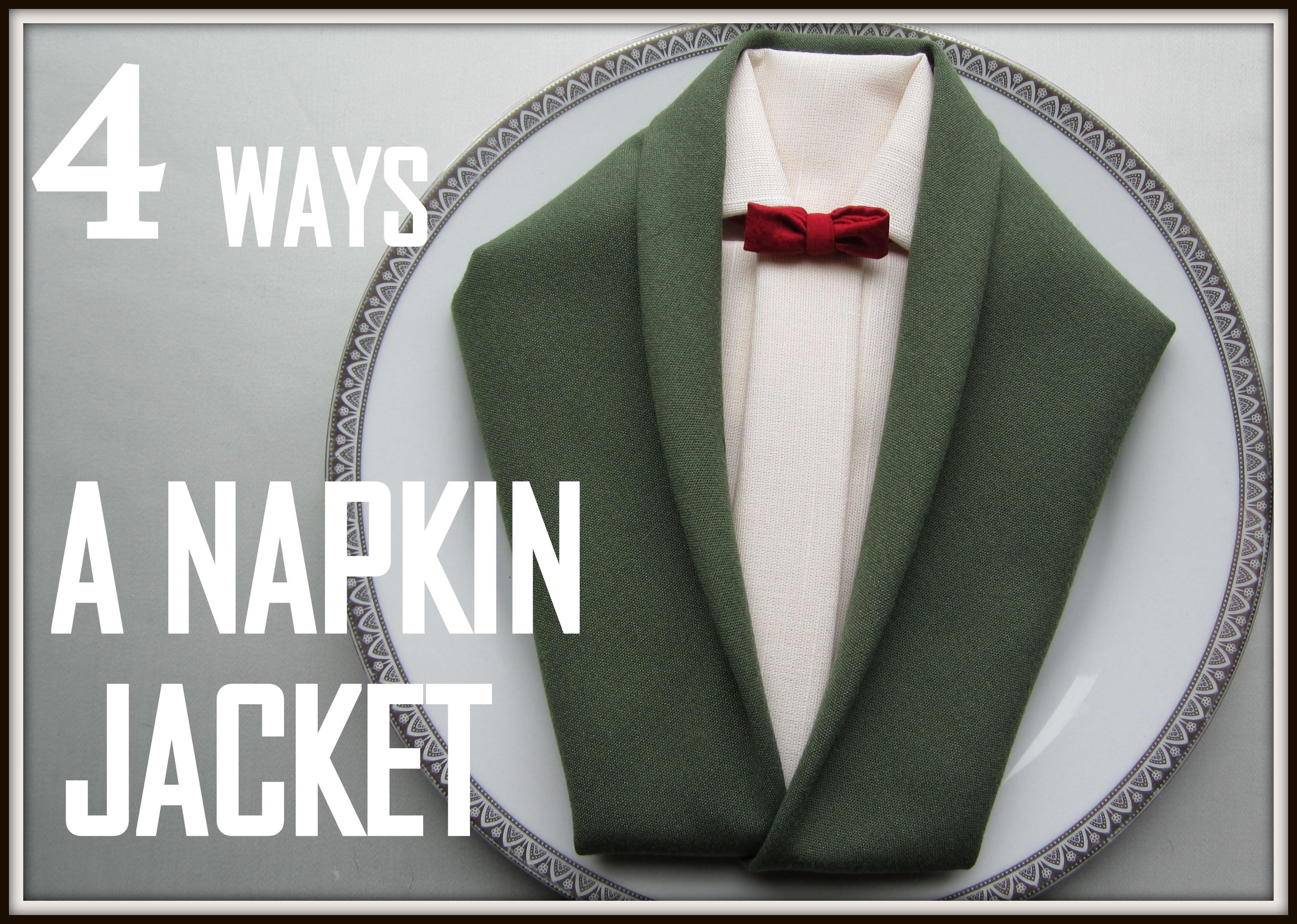 Napkin Folding: 4 ways How to Make a Jacket Napkin
