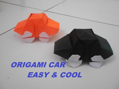 ORIGAMI CAR - How To Make a Paper Car Easy & Cool - Origami Paper
