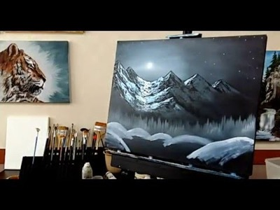 Paint with Mr.k easy painting oil tutorial, how to paint