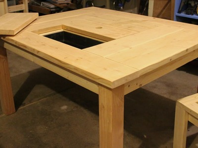 Patio Table with Ice Box (How to Build)