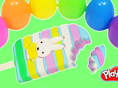 Play Doh Miffy Bunny Popsicle DIY How to Make Cute Easter Bunny Play Dough Popsicle!
