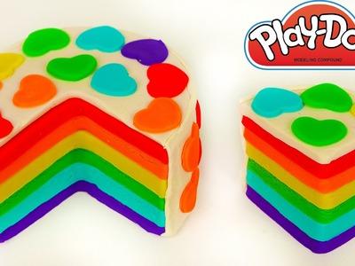 Play Doh Rainbow Cake Learn How to Make Play Dough Food
