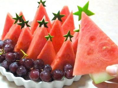 Watermelon fruit platter - How to create watermelon tree