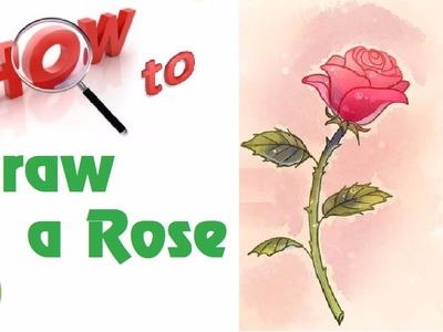 # wikiHow   How to Draw a Rose with Stem in 12 steps $$ ! Really Easy
