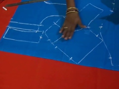 Blouse Cutting using Paper and Stiched Blouse In Telugu Part 2