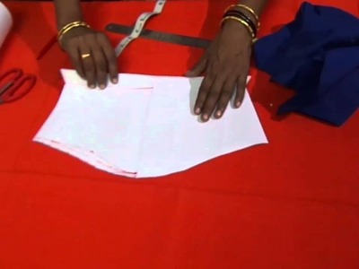 Blouse Cutting with Paper Using Stitched Blouse in Telugu Part 1