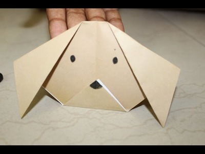 Dogs face paper craft - easy kids paper craft - origami paper folding