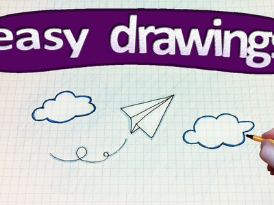 Easy drawings #188  How to draw a paper airplane
