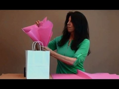How to Add Tissue Paper to a Gift Bag
