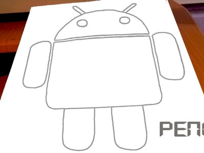 How to Draw ANDROID Logo | Robot EASY on paper | PENCIL | Cool Stuff