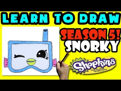How To Draw Shopkins SEASON 5: Snorky, Step By Step Season 5 Shopkins Drawing Shopkin
