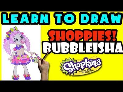 How To Draw Shoppies Shopkins: Bubbleisha, Step By Step Shoppies Drawing Shopkins