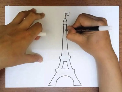 How to Draw the Eiffel Tower   Simple Easy Drawing