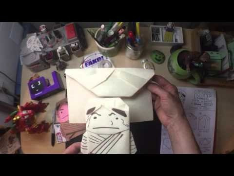 how to fold star wars origami rey new instructions