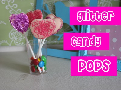 How to Make a Glitter Candy Pop Party Centerpiece