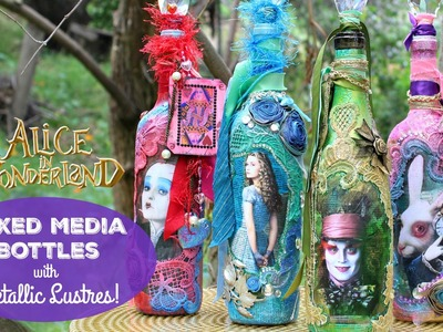HOW TO: Mixed Media Alice Bottles
