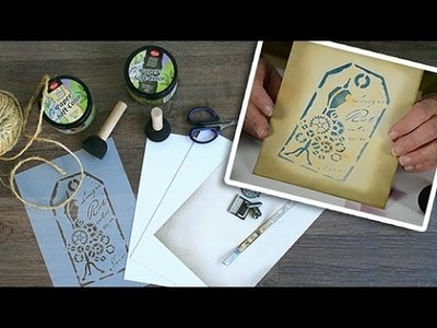 How to: Paper-Soft-Color Colouring the Background and Using a Stencil
