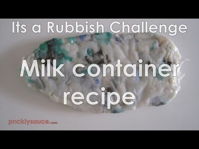 How to recycle HDPE plastic Its a Rubbish Challenge