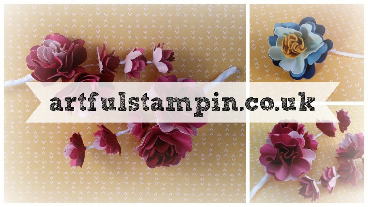 {Making Paper Flower Corsage lovely for Wedding} with Ruth Trice, Uk Stampin UP demonstrator