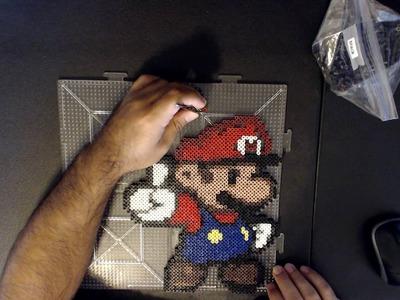 Mario Wins! Paper Mario Pixel Bead Perler Sprite Art