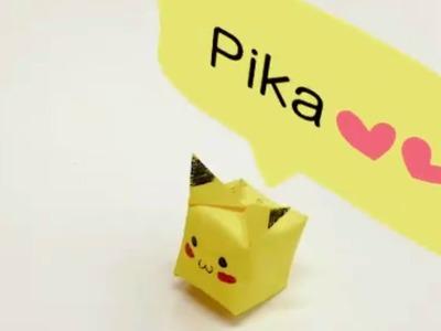 Origami Pikachu Pokemon Tutorial Easy Paper Origami Instructions Pokemons