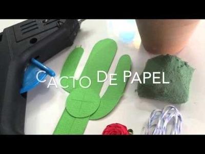 Paper cactus!