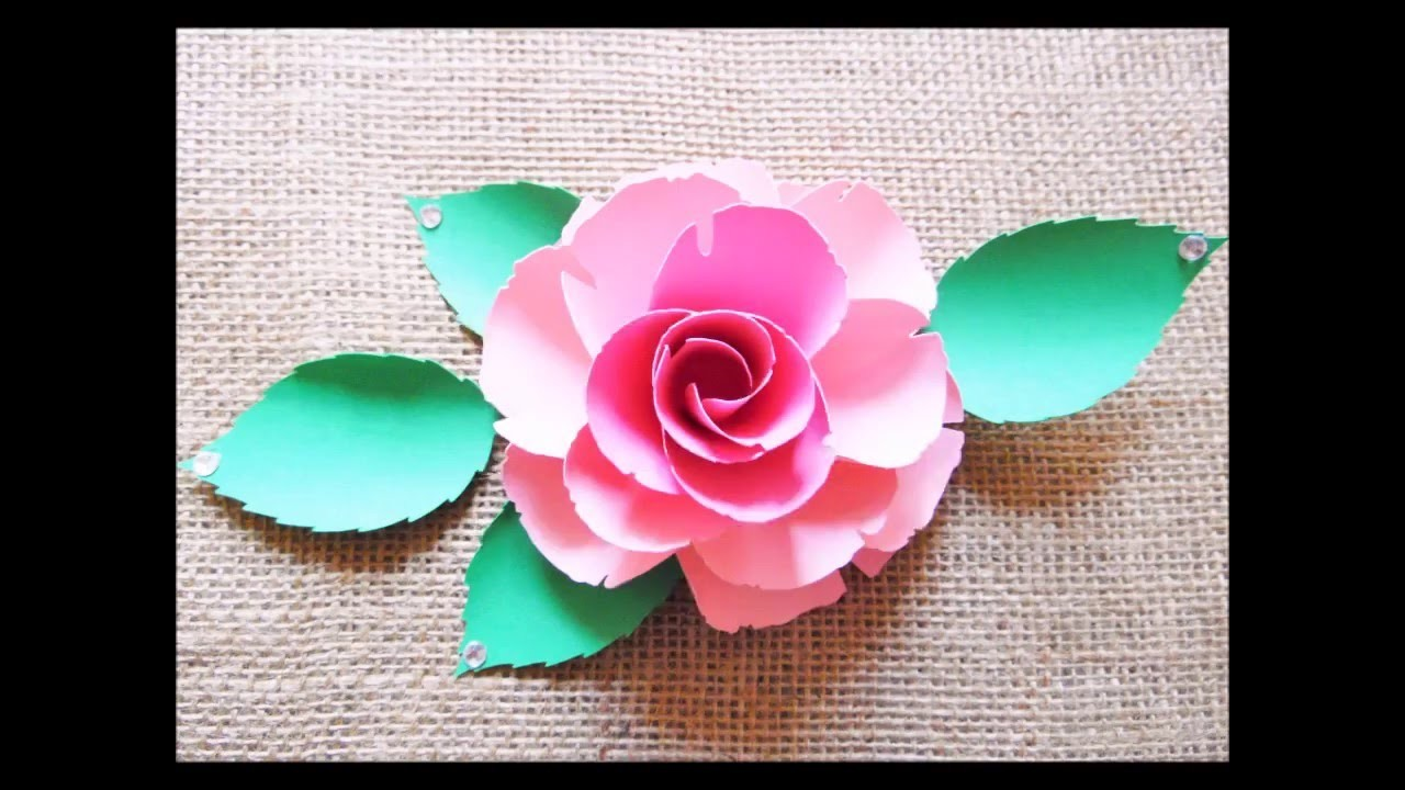 Paper Flower Tutorial- Ruby Rose style