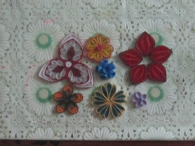 Paper quilling flowers - 7 types