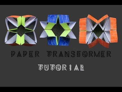 Paper transformer - moving paper toy - tutorial - dutchpapergirl