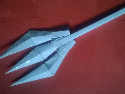 Paper Trident   How To Make Easy And Light Weight paper trident Part2