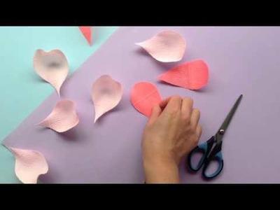 Papetal - Introduction to Paper Flowers - CURLING TECHNIQUE