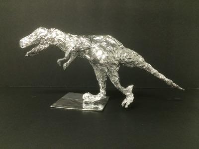 T-Rex with Aluminum foil paper.