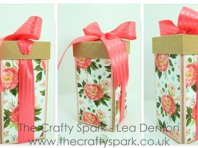 Tall Ribbon Box using Birthday Bouquet Paper - Stampin' Up! UK