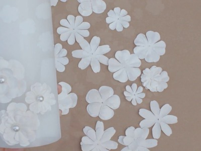 Tutorial: Paper Flower LED Candle Wedding Centerpiece