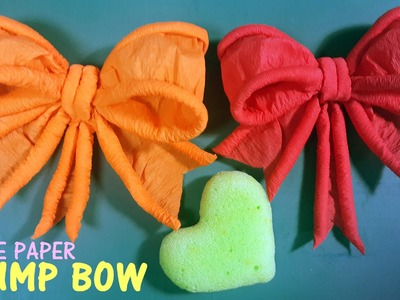 Use Barbecue Sticks and Crepe Paper to Make This Bow