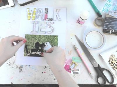 Walkies ~ Scrapbooking Process Video ~ Using my Paper Scraps
