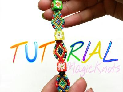Boho chic micro macrame bracelet ( DIY )