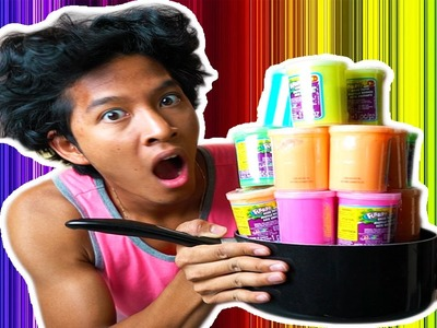 Boiling Rainbow SLIME!!!! Fun DIY ART PROJECT!