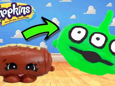 "Custom Shopkins Season 5 Chocky Croissant ""Aliens TOY STORY"" DIY Custom Paint | Toy Caboodle"