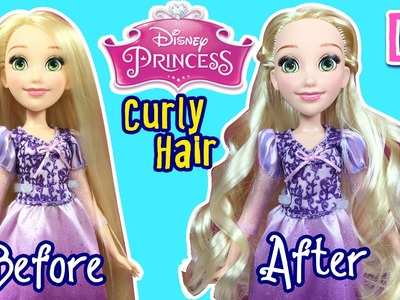 Disney Princess - How to Curl Disney Rapunzel Doll Hair - DIY Hairstyle Tutorial - Making Kids Toys