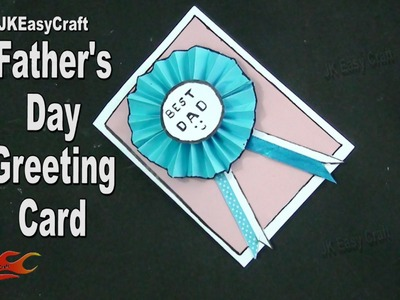 """DIY """"Best Dad """"Father's day Badge card   How to make   JK Easy Craft 169"""